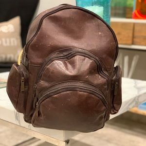 Genuine leather backpack very warm